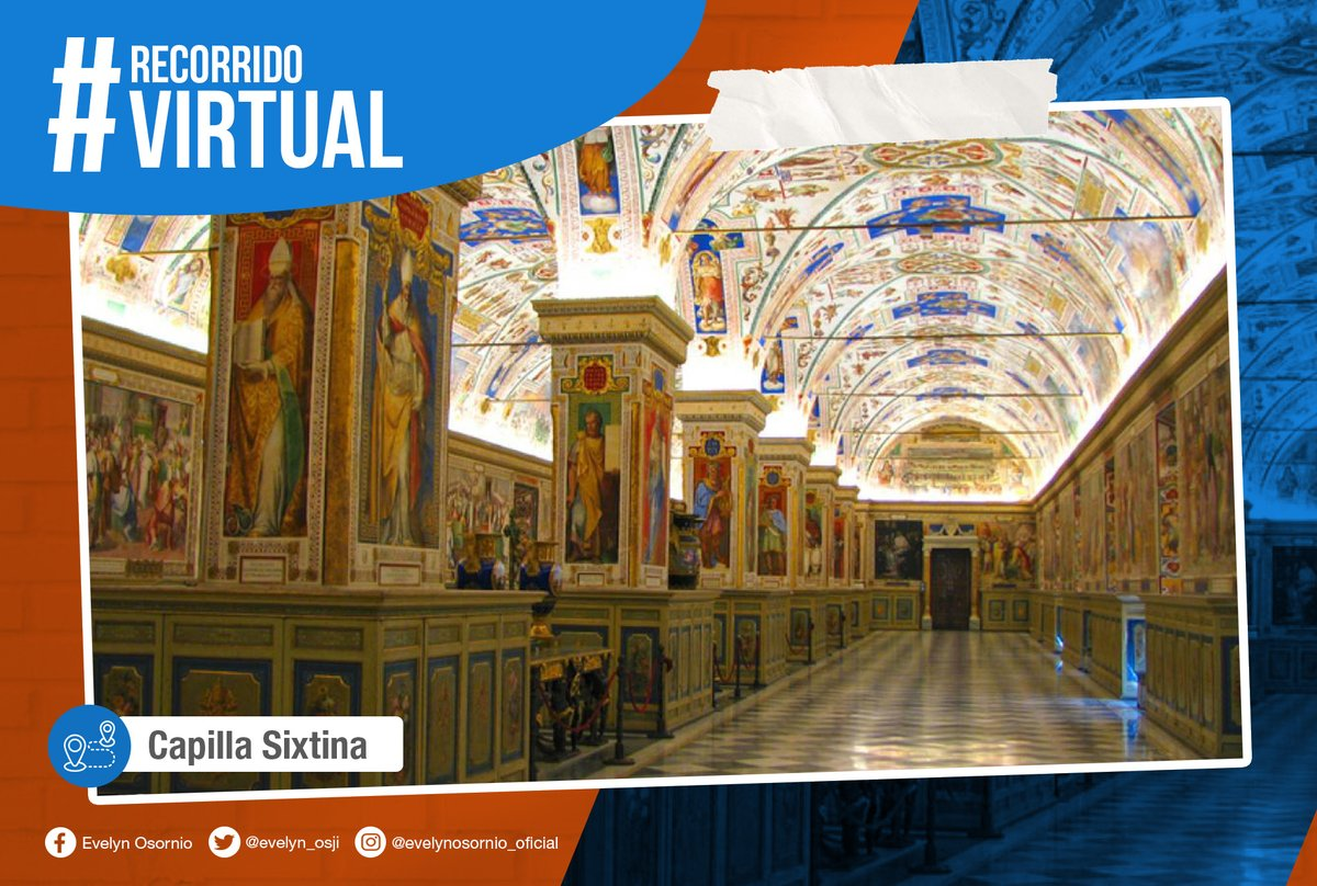 Disfruta este lunes de desde casa el #RecorridoVirtual por la Capilla Sixtina, famosa por su decoración con las grandes obras de Miguel Ángel Buonarroti.