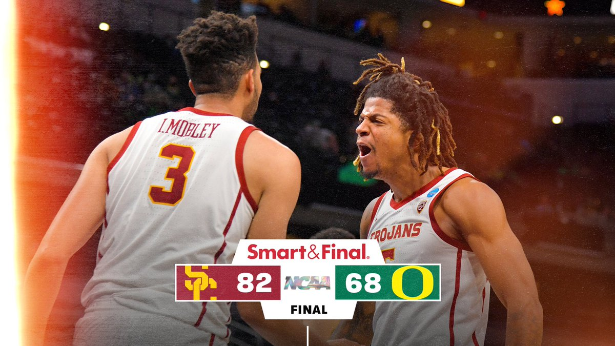 FINAL: USC 82, Oregon 68! For the first time in 20 years, USC is going to the Elite 8!!! #MarchMadness