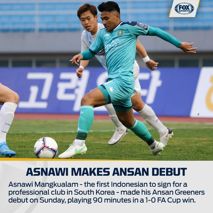 Asnawi debut bersama Ansan Greeners