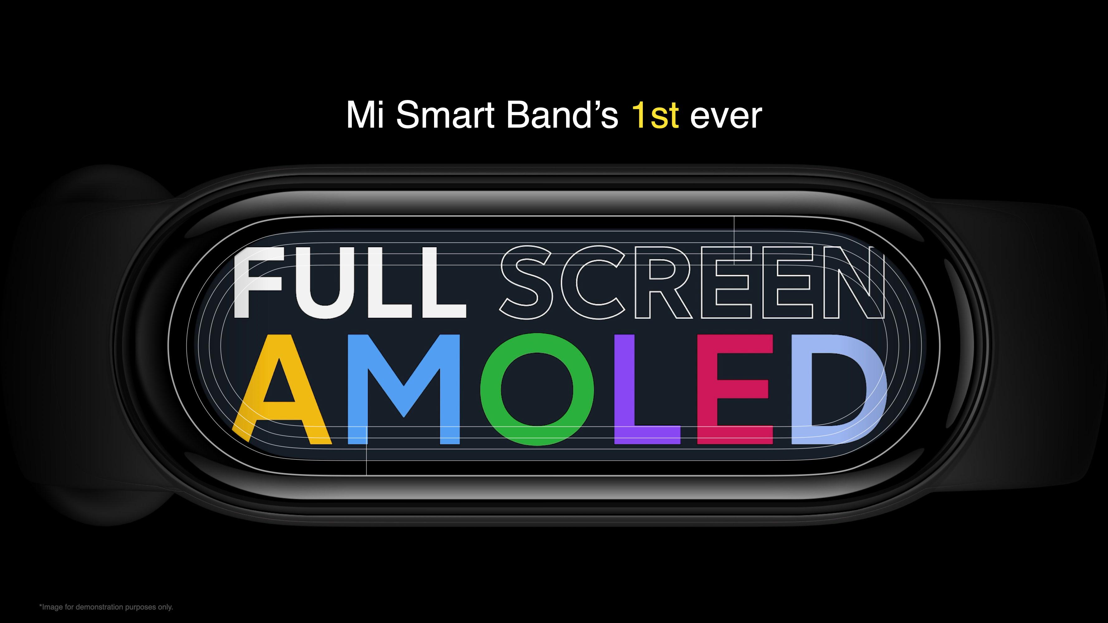 Mi Smart Band 6 vai contar com uma tela full screen Amoled!