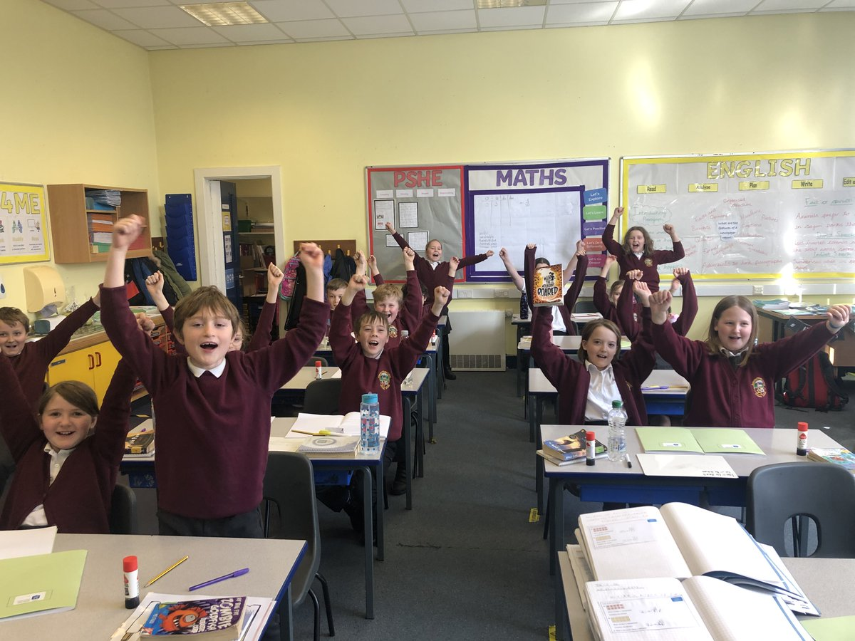 """Mercury class are loving their class novel, """"When the mountains roared"""" by @JessBAuthor. Here is the children's reaction when the most amazing thing happened and they found out that 84 year old grandma has saved them! Go grandma👵🏻📚!"""