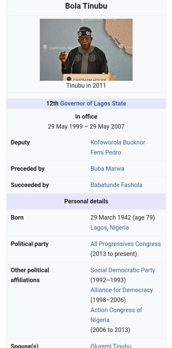 Wikipedia locks Tinubu page after his age is edited 84 times