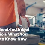 Image for the Tweet beginning: Sheet-fed inkjet may be attracting