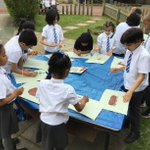 Image for the Tweet beginning: Green Class have been painting