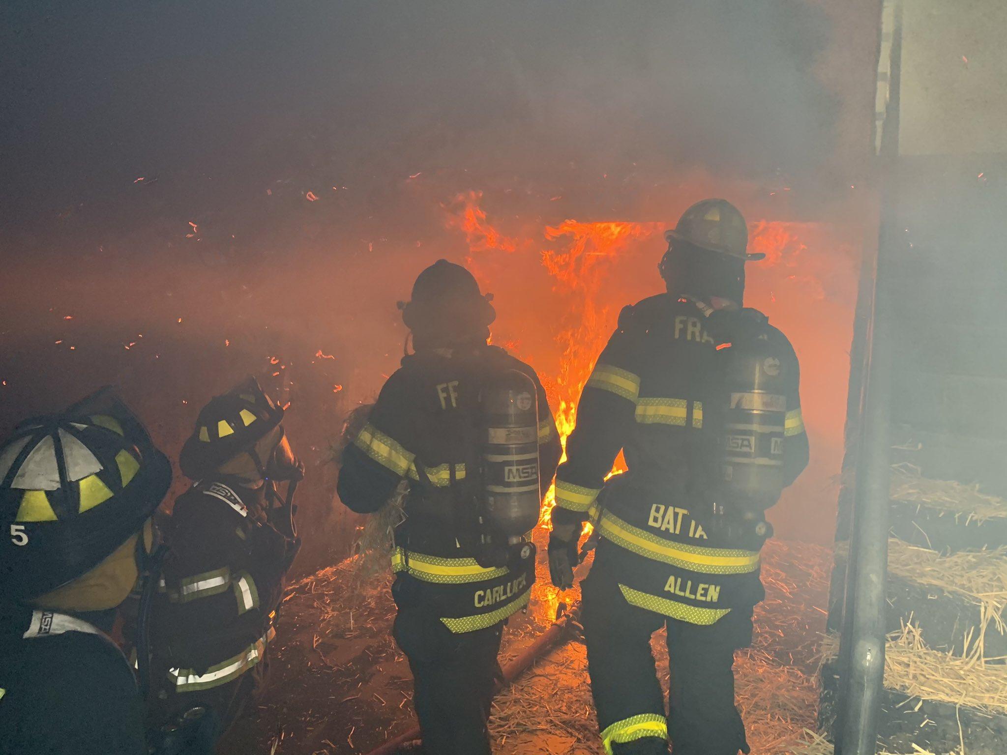 Live burn training