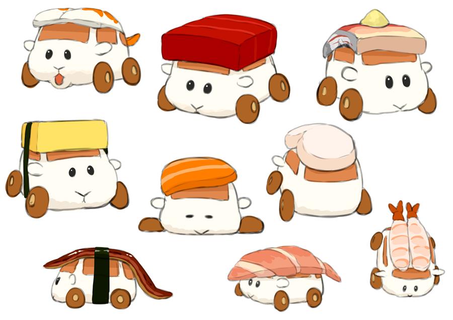 モルカー13話に出てきたえびモルカーの仲間なお寿司モルカー達可愛かったですね 道路をぐるぐる回転寿司みたいに回ってて