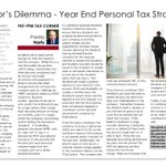 Image for the Tweet beginning: Tax Tips | Director's Dilemma