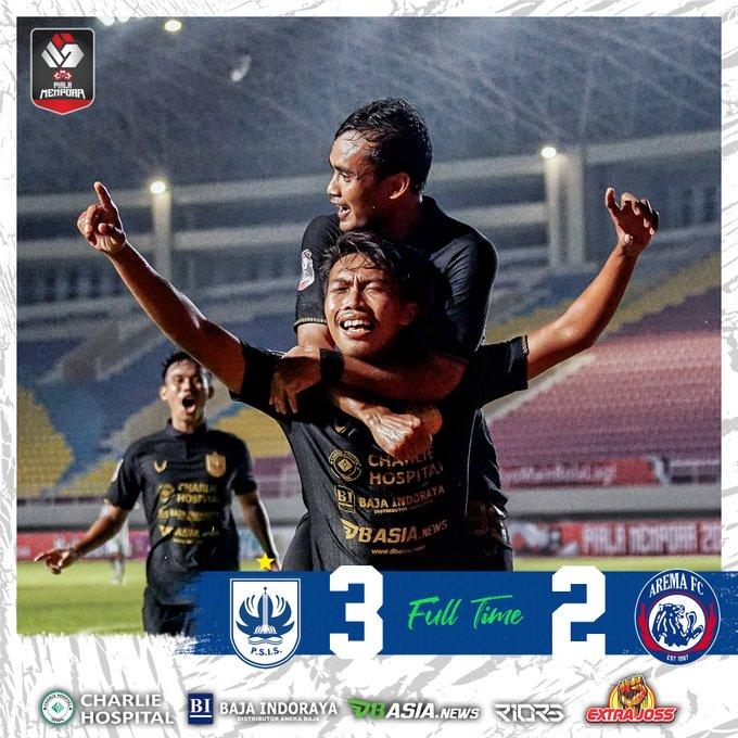 Skor akhir PSIS Semarang 3-2 Arema FC