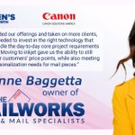 Image for the Tweet beginning: #CanonSolutionsAmerica Highlights Brianne Baggetta, Owner