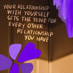 Image for the Tweet beginning: Your relationship with yourself sets