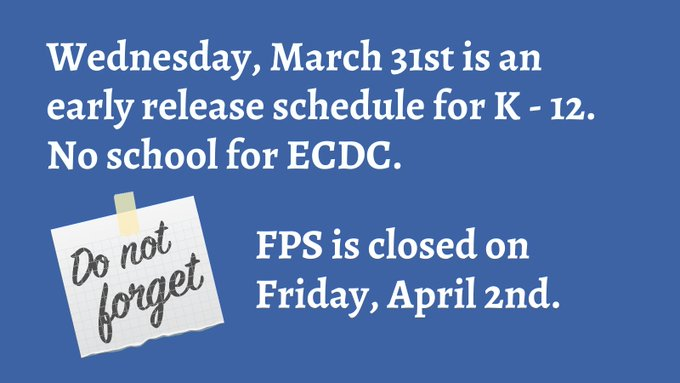 Franklin Public Schools, MA: Schedule reminders for this week