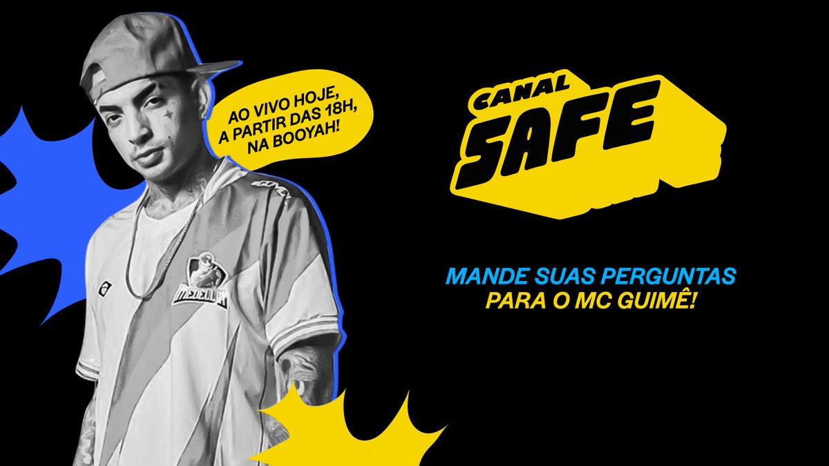 Hoje tem #SafePodcast com o @mcguime! Enviem suas perguntas pro nosso convidado com a #GuimeNoSafe 🚀  E não esqueçam, hoje tem sorteio de 5 camisetas da Medellin, time que o Guime é embaixador 🔥🔥 https://t.co/QkdwHg9wT1