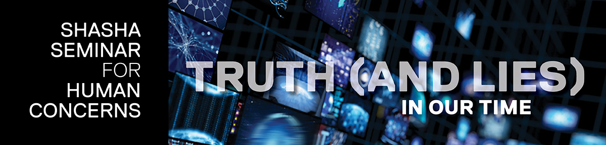 """test Twitter Media - Participants of the 2021 Shasha Seminar for Human Concerns this year, endowed by James Shasha '50, P'82, explored the topic of """"Truth (and Lies) in Our Time.""""  https://t.co/FQwlW1UTkc https://t.co/R85qmkIZTN"""