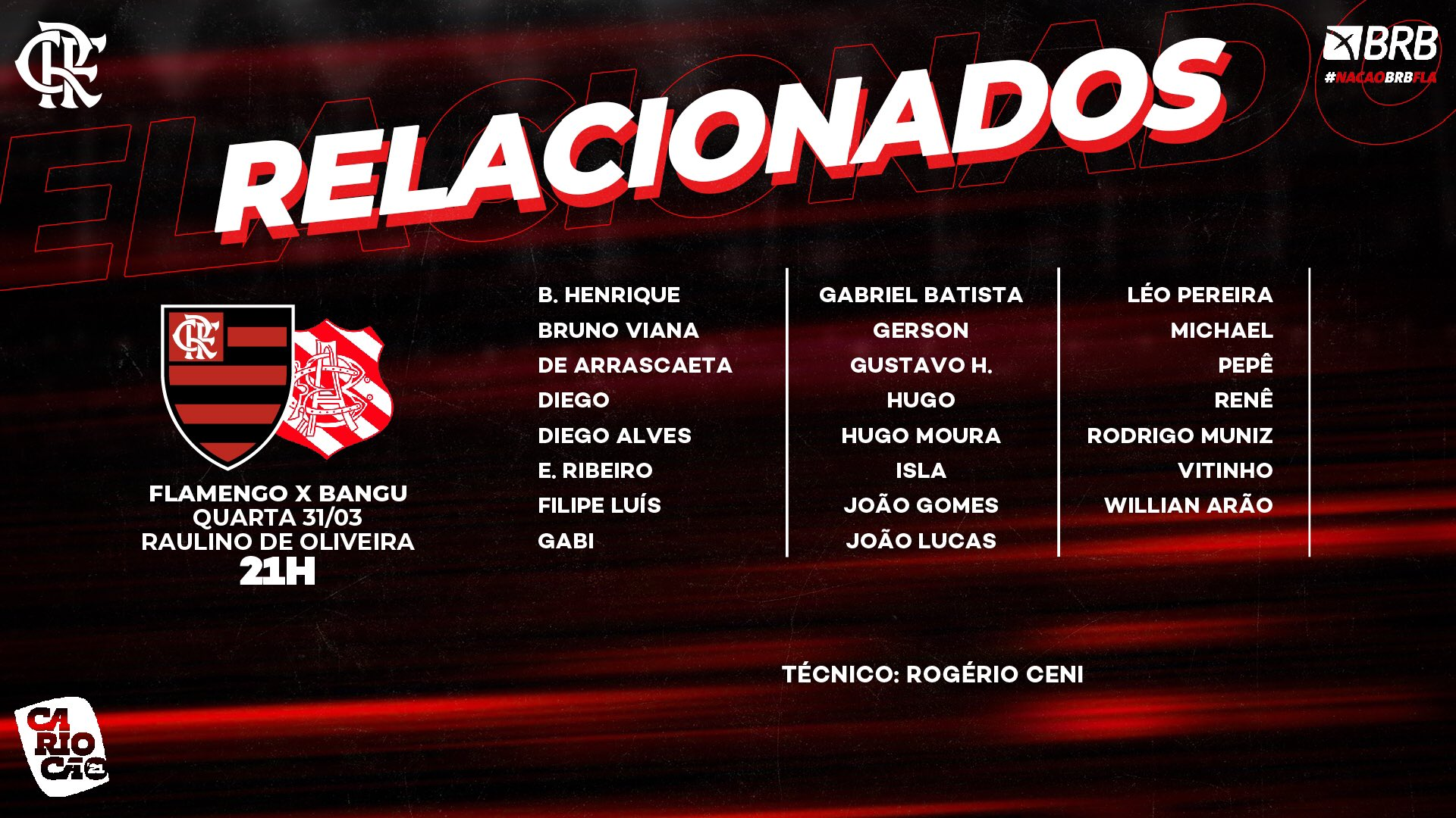 Flamengo relacionados Bangu