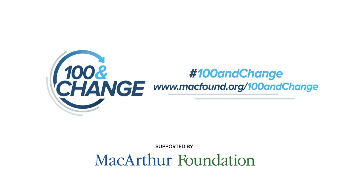 One week ago today, we awarded a $100 million grant to @cmtysolutions in our #100andChange competition! 🌎🌍🌏  Shoutout to all the finalists who took part and presented their bold and impactful solutions: https://t.co/SLgKKfRjzl https://t.co/GZCaYCSuzm