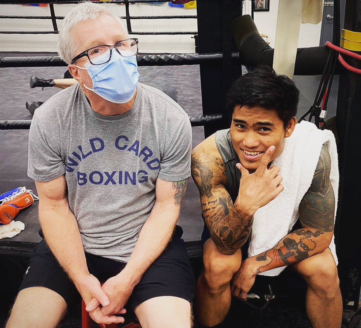 Camp is almost done for @markmagsayo_MMM See you at the Mohegan Sun Casino in CT on @ShowtimeBoxing on April 10th #TeamMMM @WildCardBoxing1 @MannyPacquiao @KnuckleheadSean @WCBstore @TGBpromotions @premierboxing #wildcardboxing #boxing #boxer #fighter #Philippines #USA #training https://t.co/psbLPcHEkN