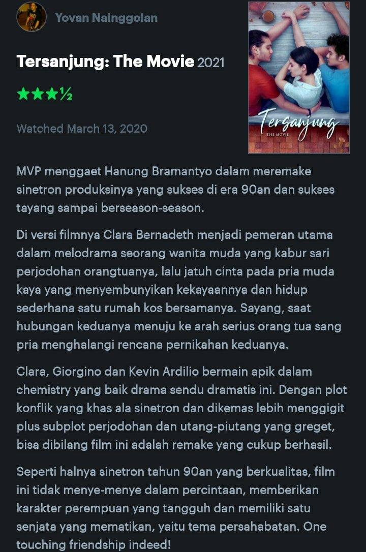 Yovan Nainggolan S Tweet 46 Tersanjung The Movie 2021 Menyambut Perilisan Film Tersanjung The Movir Besok Di Netflixid Berikut Review Saya Yang Mengikuti Media Screeningnya Lebih Dari Setahun Lalu Tersanjungthemovie Trendsmap