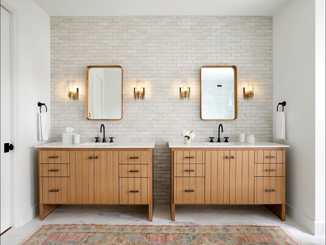 Avoid the morning rush in your #bathroom... Choosing a double vanity will make the difference. Follow the link to get inspired hubs.ly/H0JZG-30