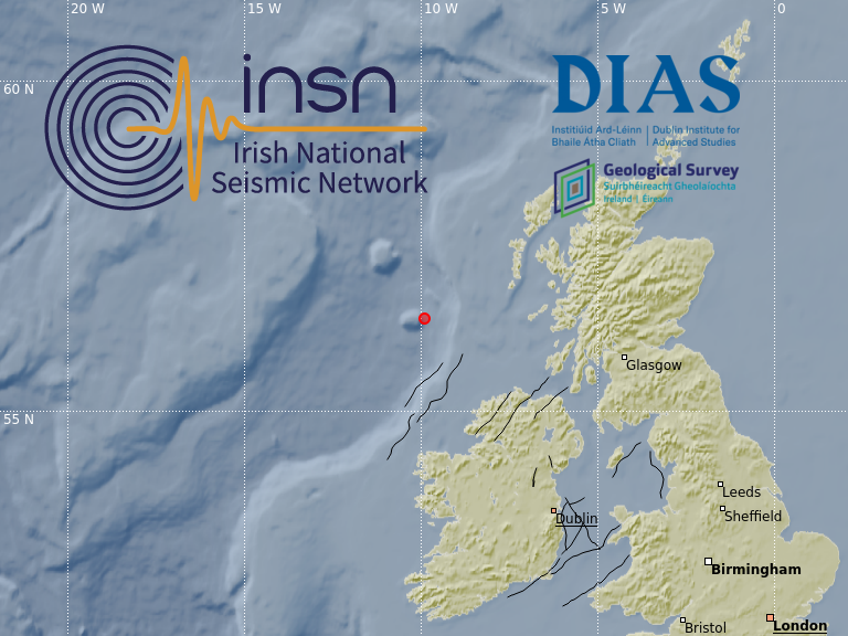 test Twitter Media - M2.6 & M2.3 earthquakes occurred this morning in the Rockall Trough. Confirmed by INSN operated by @dias_geophysics @DIAS_Dublin in co-operation with @GeolSurvIE . Details https://t.co/D0wElyQOUh @k_verbruggen @GeoSurveyNI #DIASdiscovers https://t.co/mlATmJOApR