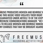 Image for the Tweet beginning: Freemuse calls for the immediate