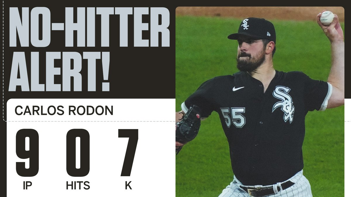 Carlos Rodon throws the second no-hitter in MLB within the last week 🤯 https://t.co/uw0h5E8yLH