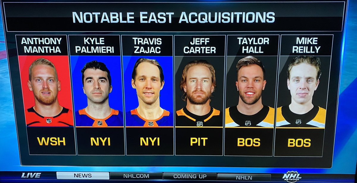 So the Isles snagged Paul Rudd and the Bruins added Noel Gallagher?   Doppelgängers at a quick glance.  #NHL https://t.co/mBwIo6OpZV