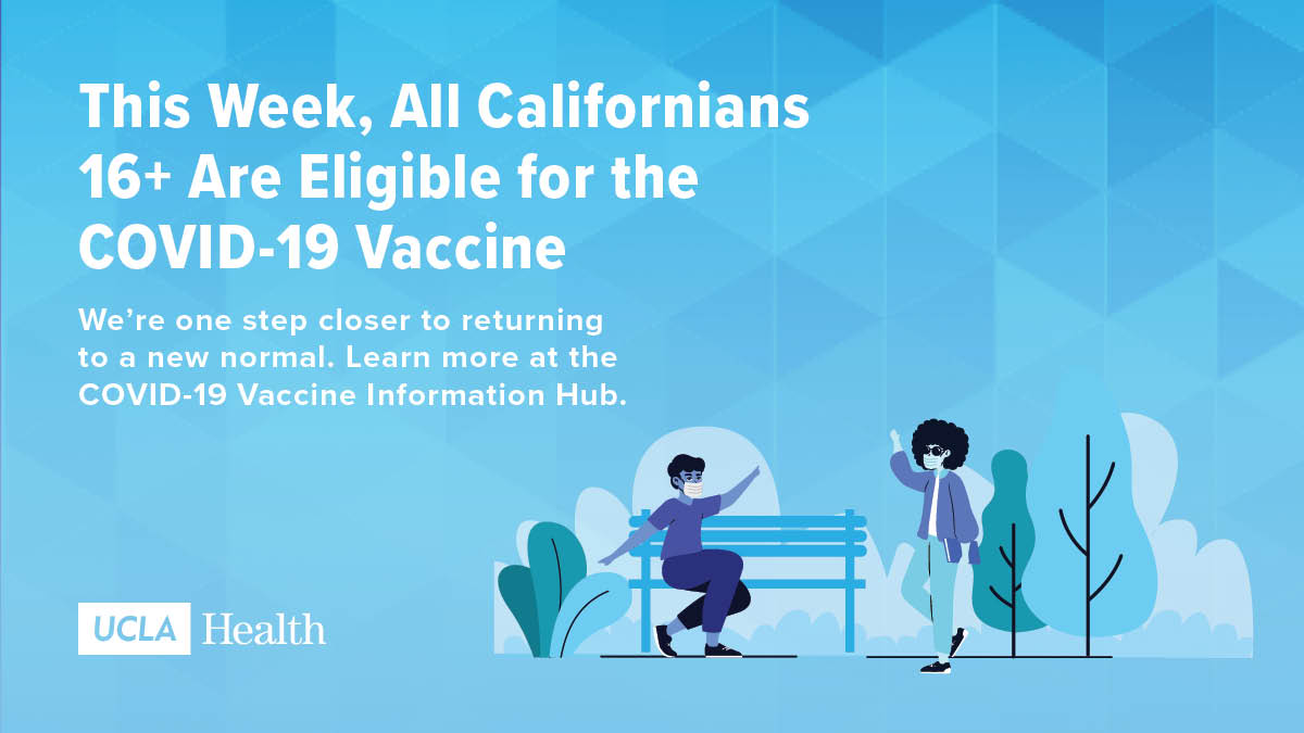 It's a big day for Californians as eligibility for the COVID-19 vaccine expands to all residents aged 16 and up.   Visit our Vaccine Information Hub for all you need to know before booking your appointment: https://t.co/5Cd1qPmm4s https://t.co/rNeUWdaStv