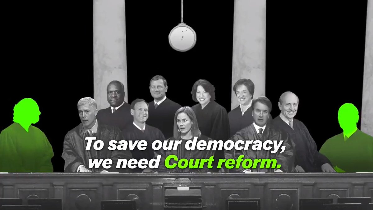 NEWS: @RepMondaire, @RepHankJohnson, @SenMarkey, and @RepJerryNadler will introduce a bill to add four seats to the Supreme Court.   Here's what you need to know about why we need to add four seats to save our democracy. https://t.co/km31FY70I1