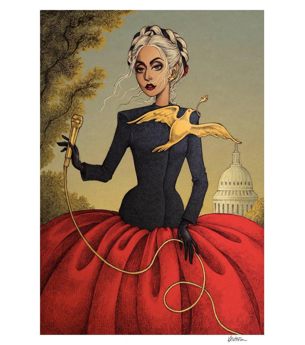 🇺🇸 #𝗕𝗶𝗱𝗲𝗻𝗜𝗻𝗮𝘂𝗴𝘂𝗿𝗮𝘁𝗶𝗼𝗻 🇺🇸  #Inauguration2021 #MonsterArt by Albert Victoria!!   #GoT #GameOfThrones #JoeBiden #KamalaHarris #USA #InaugurationDay #nationalanthem #LadyGaga #LittleMonsters #drawing #art #Gaga #PEACE #LOVE #Kindness @ladygaga