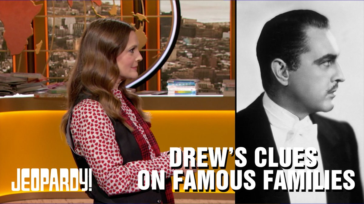 Can you solve DREW'S CLUES ON FAMOUS FAMILIES? Watch @DrewBarrymore deliver this category! @DrewBarrymoreTV