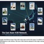 Image for the Tweet beginning: #キャルちゃんのastrophチェック 東アジアVLBIネットワークによるAGN jetsの観測について。昨年、観測停止が危ぶまれた水沢も入っている。