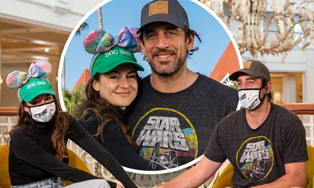 Shailene Woodley and fiance Aaron Rodgers beam in adorable photos from trip to Disney World Photo