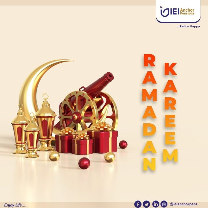 RAMADAN KAREEM!! May it be easy for everyone observing and may the blessings be with you and your family. #ramadan #RamadanKareem #ramadankareem #ieianchorpensions #retirehappy #pensionnigeria #transferwindow #pfa #retirementplan #benefits #DataRecapture  #fasting https://t.co/n7ouZKSqhY