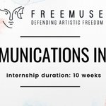 Image for the Tweet beginning: Freemuse is looking for #interns! Are