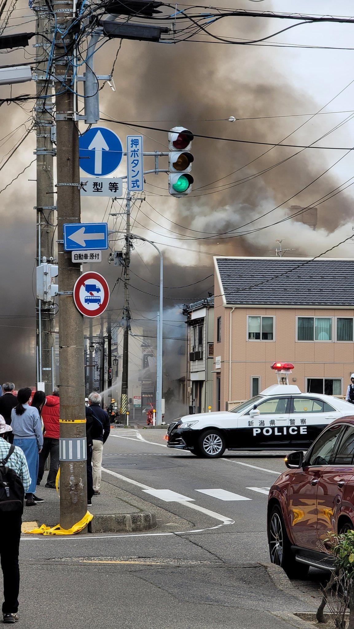 新潟市西区内野町の火災現場の画像