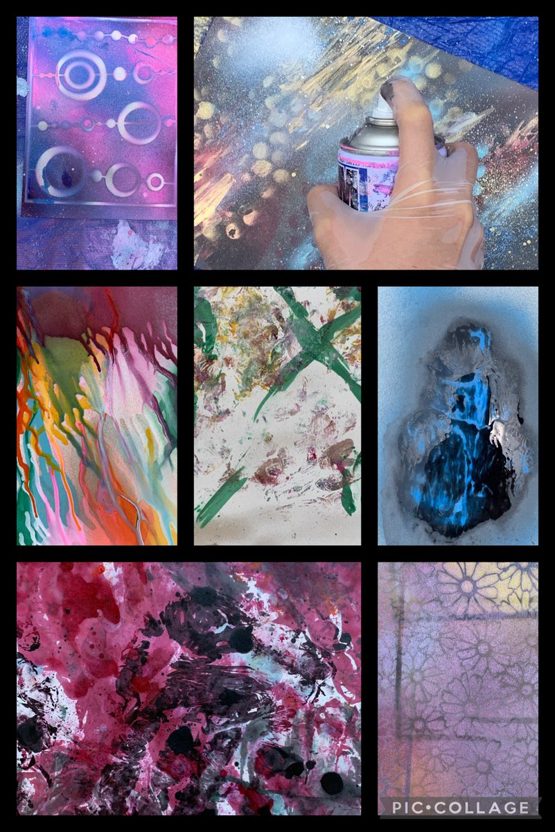 G8 ss are exploring a variety of media from spray painting, watercolours, collage, to wire. Our #womenshistorymonth & #BlackHistoryMonth2021 printmaking - mixed media artworks are going to be stunning. Excited!
