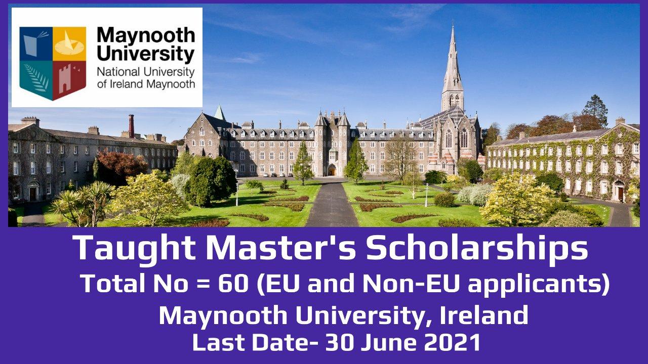 60 Taught Master's Scholarships by Maynooth University, Ireland