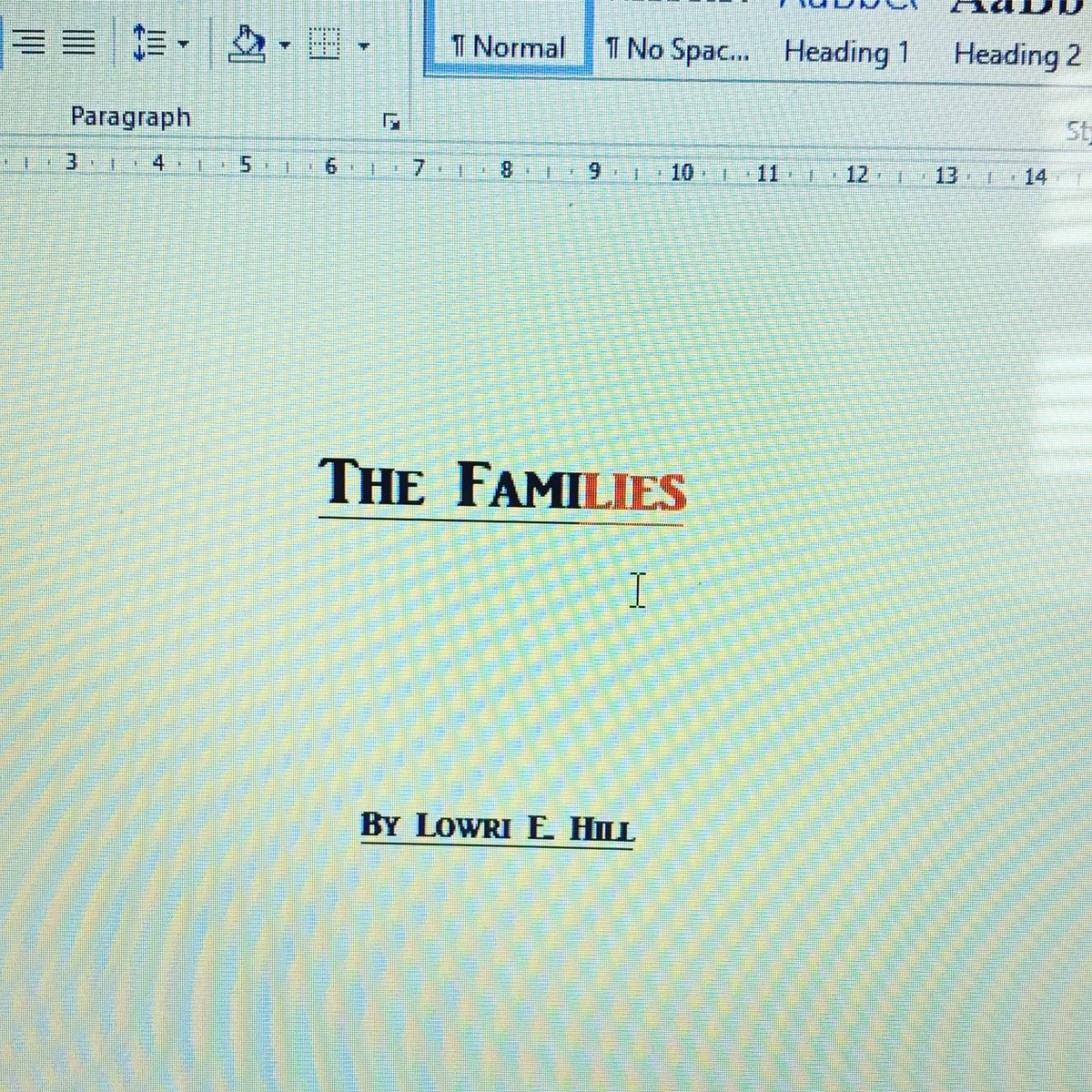 Exciting Times #TheFamilies #FirstDraft #writerscommunity #writerslife