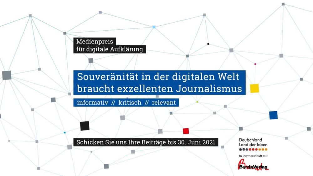 Medienpreis für digitale Aufklärung gestartet: Land der Ideen sucht digitale Erklärer https://t.co/mOWb15JKms https://t.co/GgnMiZ2Jk1