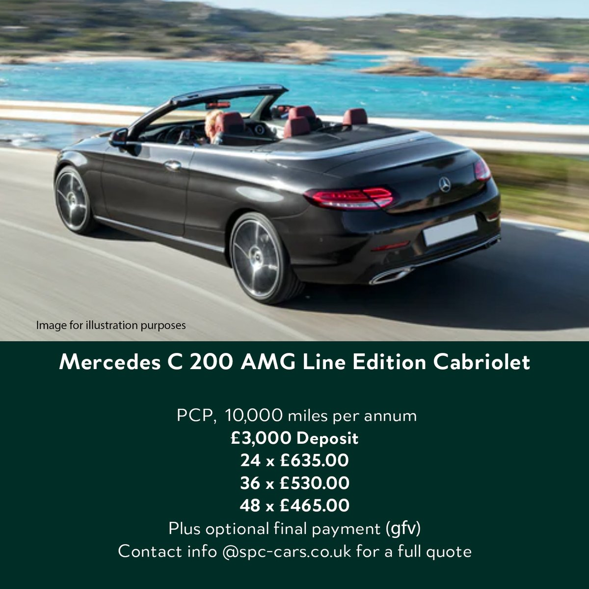 Get ready for the sunshine  The C Cab is a great car to drive, loads of fun  Contact info@spc-cars.co.uk to discuss and reserve yours in time for summer.   https://t.co/Si9BqLwxKM  #mercedes #cclass #convertible #cabriolet #amg #sunshine #newcardeals #pfa #efl #spccars https://t.co/RcXBH6NN7o
