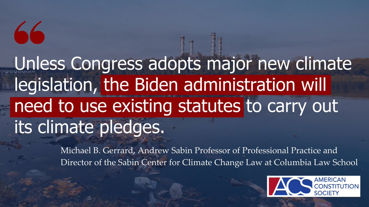 "Check out ACS's new Issue Brief on how the ""most conservative Supreme Court in generations'' may clash with the Biden-Harris administration's ambitious #climate goals: https://t.co/nTQ8G0v69I https://t.co/yKznBzUMxp"