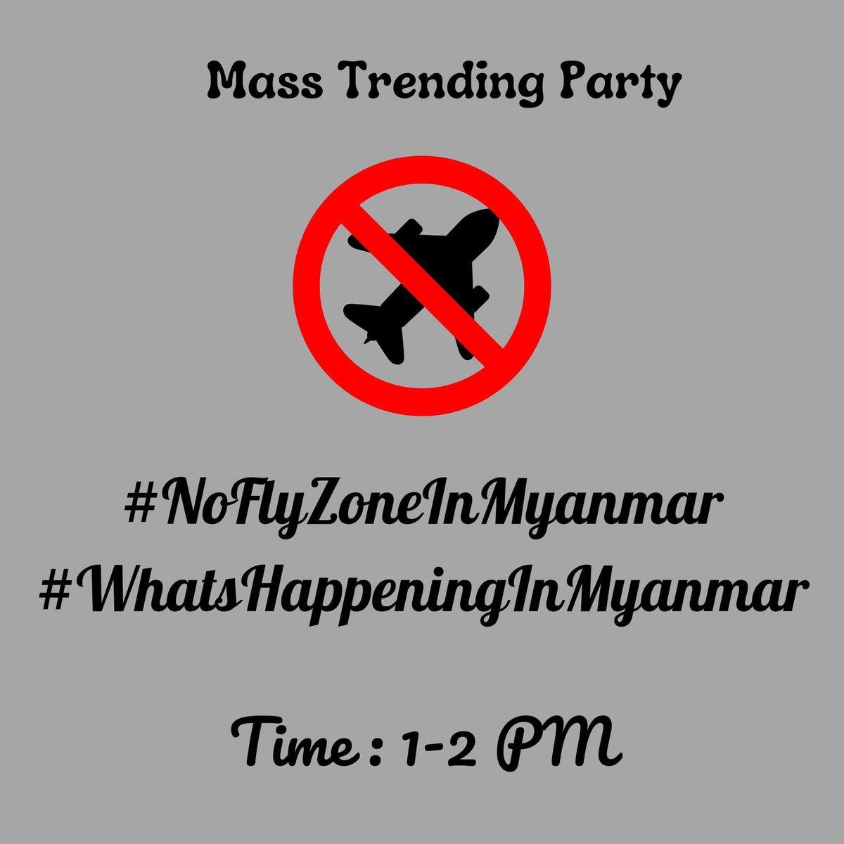 #NoFlyZoneInMyanmar #WhatsHappeningInMyanmar #FreeAungSanSuuKyiAndDetainees Free @SeanTurnell @freya_cole @SchranerBurgen1 @RapporteurUn @USEmbassyBurma @ukinmyanmar https://t.co/MuzI8SqTXB