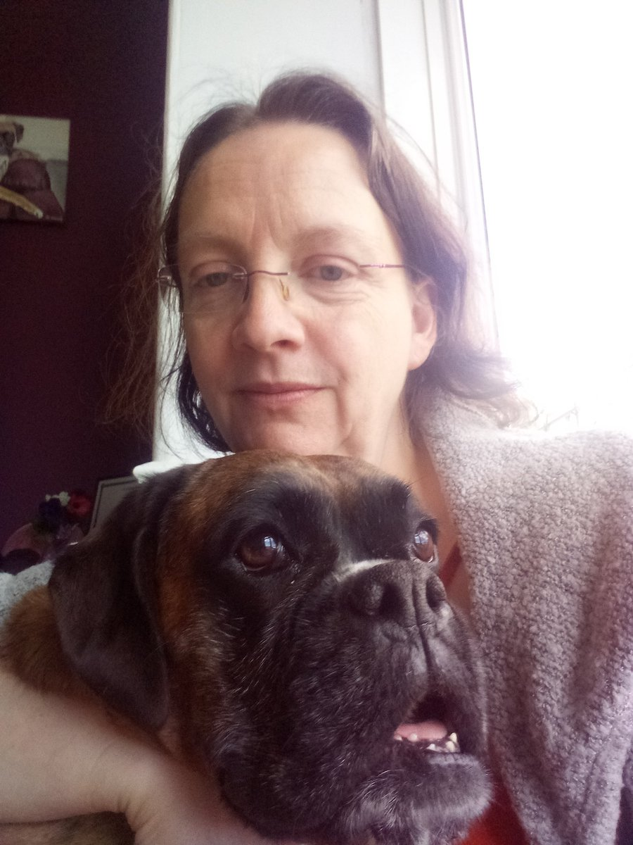 A rare pic of my big dog with me. One of the many positives in my life.  #WritingCommunity #writers #WritingLife