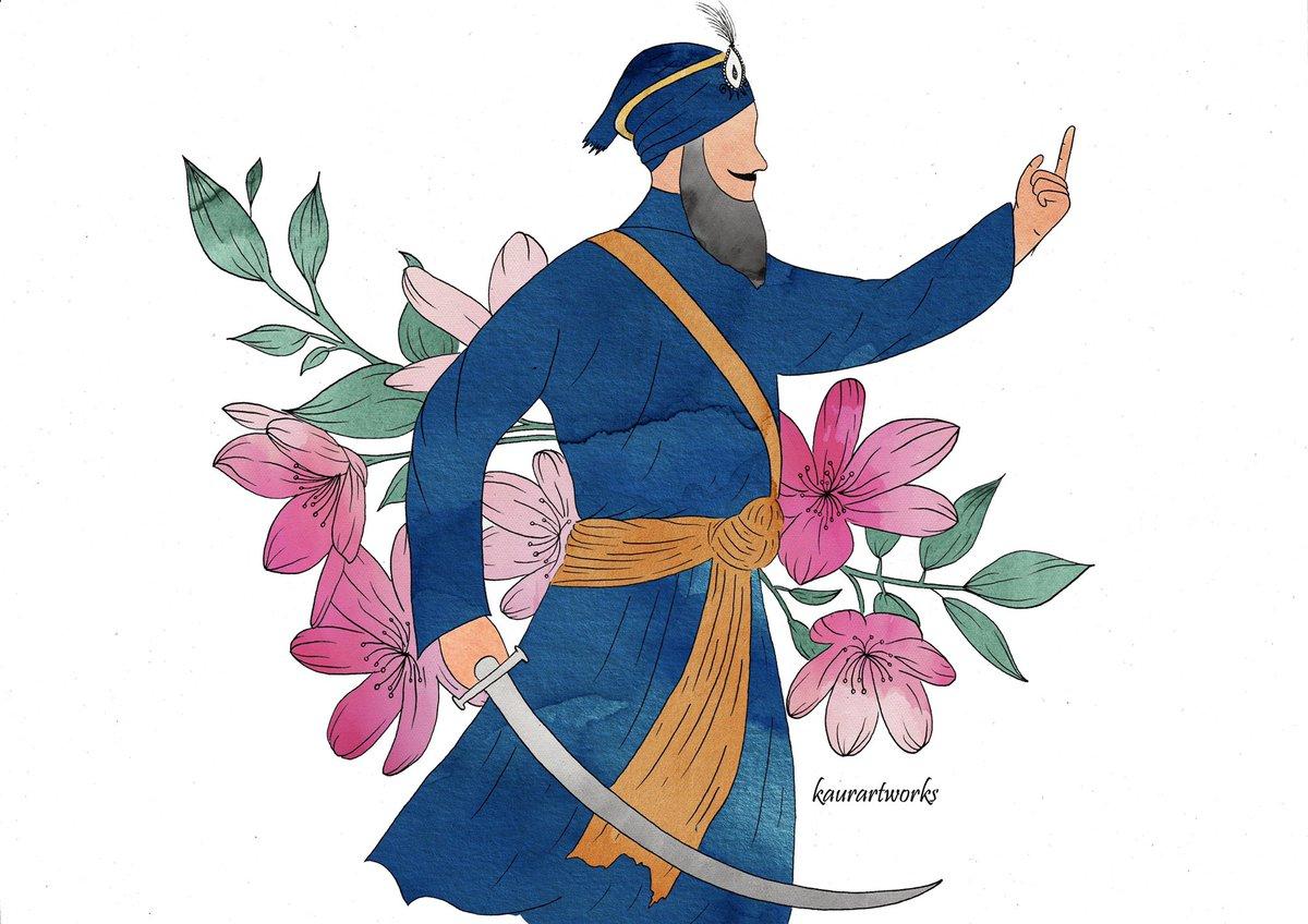 Khalsa Sajna Diwas diyaan lakh lakh vadhaiyan sareyan nu🧡💙  Dhan Dhan Sri Guru Gobind Singh Ji Maharaj ⚔️🙏🏽 https://t.co/qac2vx4FsG