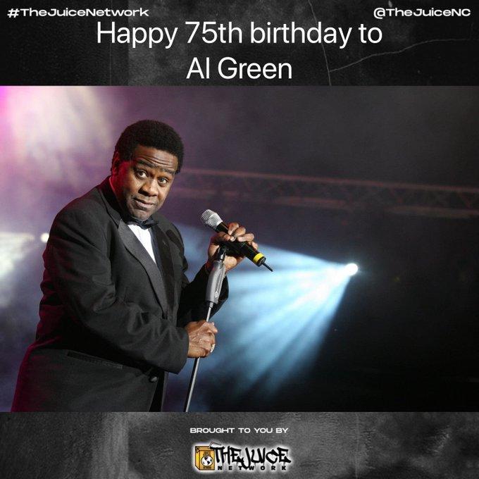 Happy 75th birthday to Al Green!