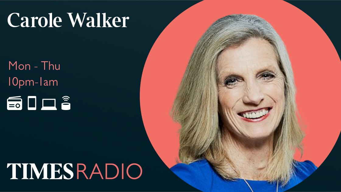 """Listen to Carole Walker 🔊 app.times.radio/listen 🔹 @S_Hammond & @chrischirp on plan B for the winter 🔹 Papers with @GeorgeWParker & @PippaCrerar 🔹 @ShabnamChaudhri on women being """"spiked by injection"""" 🔹 Midnight interview with @AliMirajUK @carolewalkercw"""