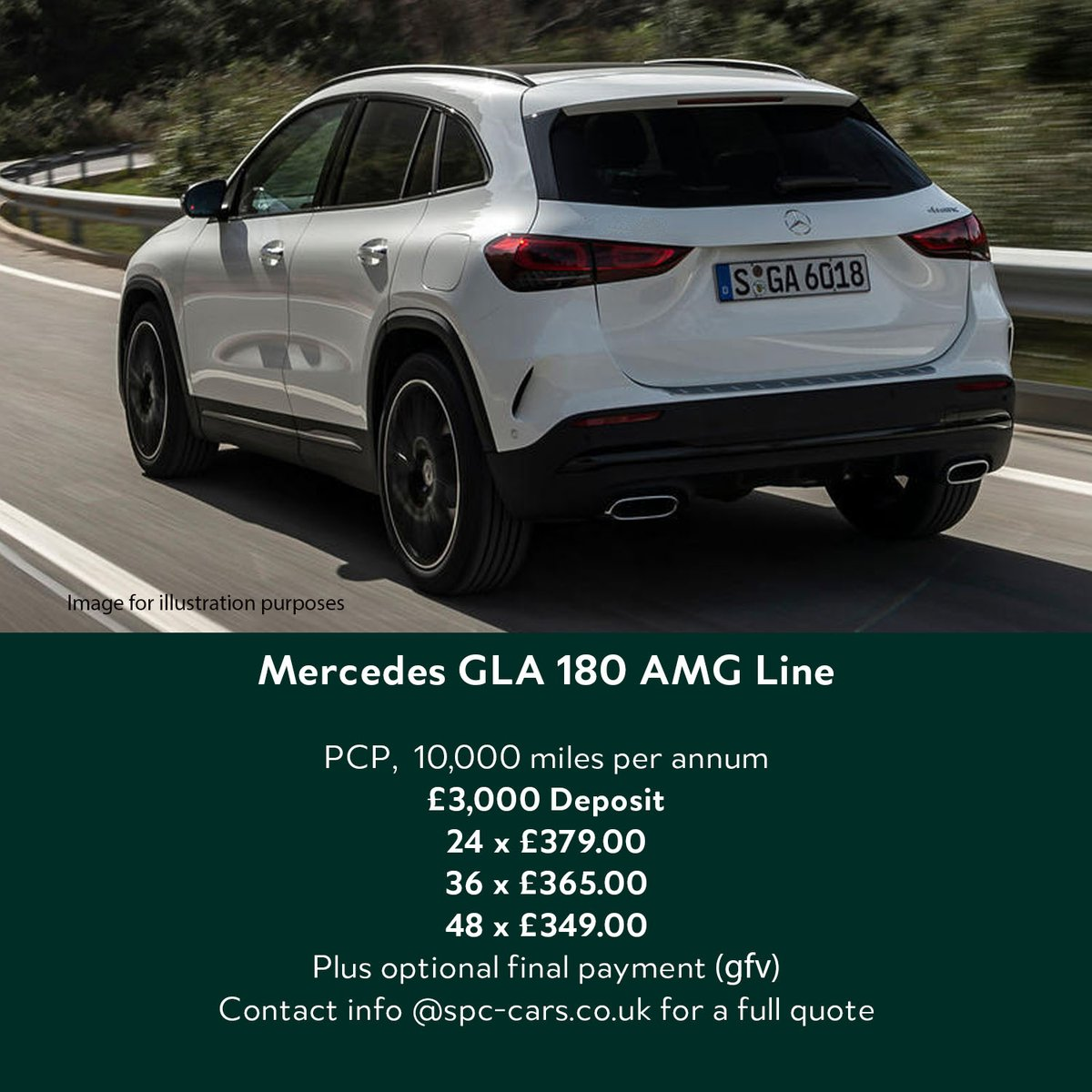The GLA has a great road presence  Contact info@spc-cars.co.uk to discuss and secure yours    Also visit https://t.co/Si9BqLwxKM to see all the great vehicles we offer  #mercedes #gla #amg #suv #newcardeals #pfa #efl #spccars https://t.co/WjIKqe7SLe