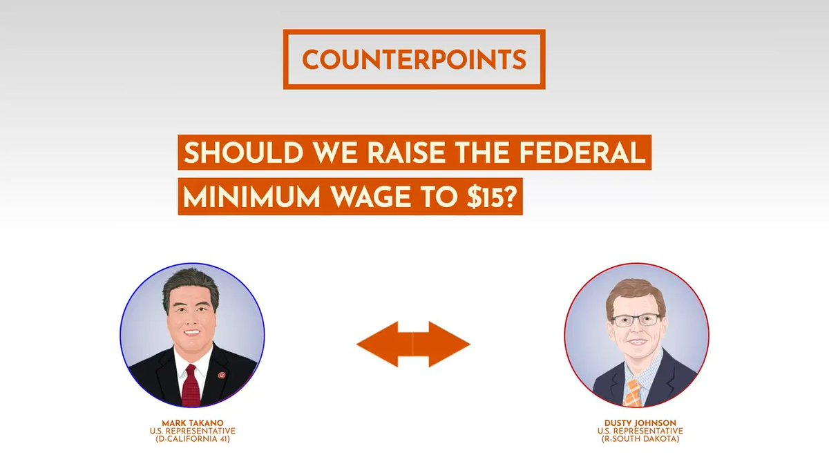 If passed, the Raise the Wage Act would gradually increase the federal minimum wage from $7.25 to $15 by 2025. Hear @RepDustyJohnson & @RepMarkTakano discuss whether they think the federal minimum wage should be $15 in this special @Newsweek #Counterpoint https://t.co/ehoyYbbVcO https://t.co/SCTcujmi0R