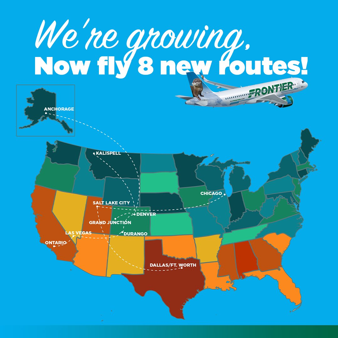🚨 @FlyFrontier announces new service between LAS and @DROAirport, starting in June! YEE-HAW! 🤠