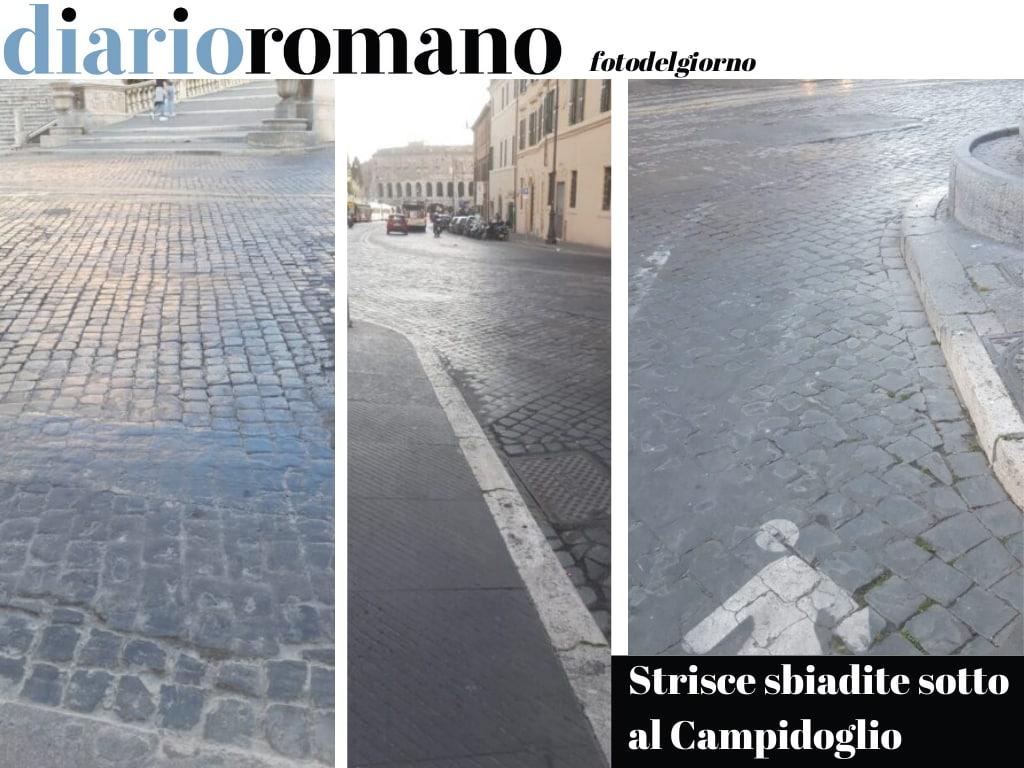 test Twitter Media - Il percorso pedonale di piazza Venezia, sotto il Campidoglio, è del tutto scolorito. Resta solo la sua indicazione ma poi il pedone è perduto. Foto Emanuela V. #Roma #fotodelgiorno https://t.co/vrdmWakH22